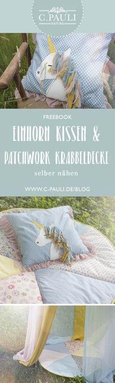 DIY Kissen mit Einhorn-Applikation / organic cotton   C.Pauli Nature Blog