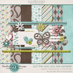 Saturday's Guest Freebies ~ Various Designers  ✿ Follow the Free Digital Scrapbook board for daily freebies: https://www.pinterest.com/sherylcsjohnson/free-digital-scrapbook/ ✿ Visit GrannyEnchanted.Com for thousands of digital scrapbook freebies. ✿ sqs_justthewayyouare_sampler_pvw