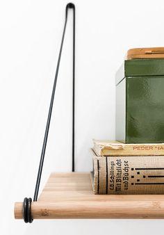 We Do Wood Loop Shelf bamboe wandplank - Hoeked