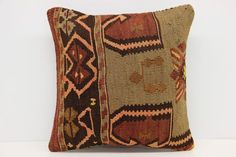 Anatolian Kilim Pillow Cover 16 x 16 Throw by kilimwarehouse Kilim Pillows, Throw Pillows, Pillow Embroidery, Handmade Pillow Covers, Personalized Pillows, Decorative Pillows, Trending Outfits, Handmade Gifts, Etsy