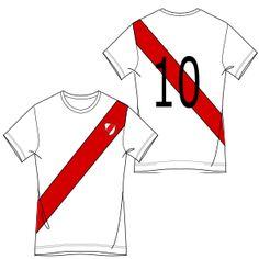 c5224623b1840 Camiseta futbol 6918   Remeras   HOMBRES   Patrones Industriales de Moda
