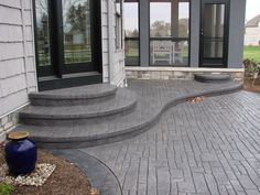 Trendy cement patio with pergola stamped concrete 59 Ideas Cement Patio, Gravel Patio, Backyard Patio, Backyard Landscaping, Nice Backyard, Backyard Ideas, Concrete Backyard, Concrete Porch, Landscaping Ideas