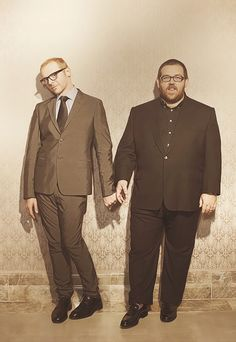 Simon Pegg & Nick Frost - what a cute pic