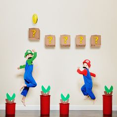 Kids doing Super Mario... Something to make you smile for the weekend. Great Photo #fb