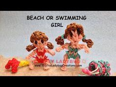 Rainbow Loom Band BEACH/SWIMMING GIRL ADVANCED Tutorials/How to Make by Crafty Ladybug - YouTube