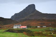 Scotland - View of An Sgurr - Isle of Eigg