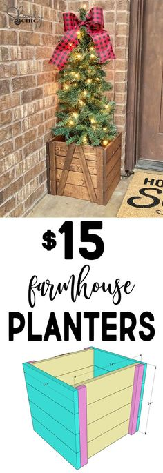 RYOBI NATION – Farmhouse Porch Planter We love decorating for Christmas! I also have 9 kids between us, so we try to always decorate on a budget! We designed the cutest farmhouse porch planters you can build with furring strips! The entire…More Unique Home Decor, Home Decor Items, Cheap Home Decor, Diy Wood Projects, Wood Crafts, Woodworking Projects, Woodworking Plans, Woodworking Furniture, Woodworking Workshop