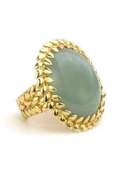 Aquamarine & gold ring #gold #ring