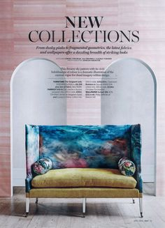 """Ciel Liberte"" back upholstery fabric. Designers Guild, Christian Lacroix, Upholstery, Clouds, Wallpaper, Fabric, Collection, Home Decor, Tejido"
