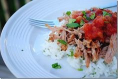 Slow cooked pork carnitas - AND it's healthy!