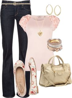 """""""Floral Flats"""" by bayelle on Polyvore"""