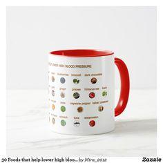 30 Foods that help lower high blood pressure Mug Natural Blood Pressure, Healthy Blood Pressure, Lower Blood Pressure, High Blood Sugar Symptoms, Bowel Cleanse, Hibiscus Tea, Medical Prescription, The Cure, Stuffed Peppers