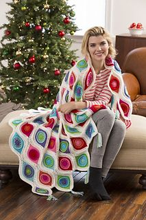 The Ravelry Page.. Retro Ornament Throw.. once i decide on my colours i should make this