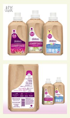 Biokleen Industries: PRINT DESIGN — Laundry Liquid Eco-Bottle Labels. Way before being 'green' was cool, Jim Rimer set out to transform the chemical cleaning industry. His vision paid off. Biokleen produces 100% effective plant and mineral based home care products. We had the privilege of working with this world-changing company by designing labels for their new compostable, recyclable 32 oz. bottles of laundry detergent and dish liquid.
