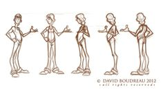 Concept Design Sketches - The Art of David Boudreau Character Poses, Character Design References, Character Art, Character Reference, Character Ideas, Cool Drawings, Drawing Sketches, Sketching, Drawing Ideas