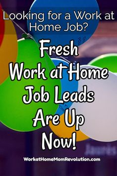 Fresh work at home job leads daily on Work at Home Mom Revolution. If you're seeking a work from home job, this is the place to start! Awesome home-based job leads posted every day! You can make money from home! Work From Home Moms, Make Money From Home, How To Make Money, Online Careers, Online Jobs, Home Websites, Home Based Jobs, Home Business Opportunities, Single Words
