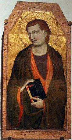 Jacopo del Casentino - San Giovanni Evangelista - 1350 ca. - Museo d'Arte Sacra di Santa Verdiana, Castelfiorentino (Firenze)