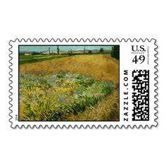 Wheatfield by Vincent Van Gogh Stamp