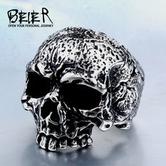 316L Stainless Steel man Skull ring top quality new Designed products Fashion  punk Jewelry BR8- 46b6f195e95b