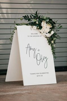 Elegant Black White Wedding Signage With Lush Floral Accents Image By Nicole Leever