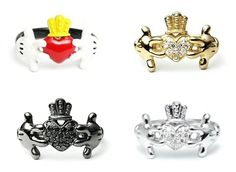 Mickey Mouse Claddagh rings!
