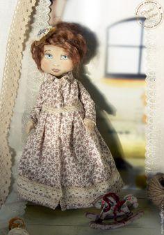 Купить Кукла авторская коллекционная Катенька - бежевый, кукла ручной работы, коллекционная кукла
