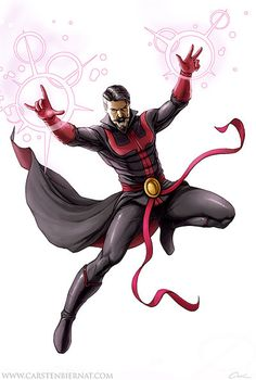 Here is my next Dr.Strange artwork. This time I have used the black costume instead of the classic one. It looks really great with a white background…also take a look at the full cover versi...