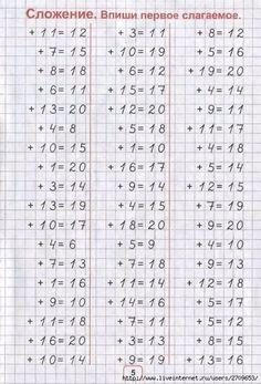 Perete Addition And Subtraction Worksheets, 1st Grade Math Worksheets, Math Cheat Sheet, Math Drills, Homeschool Math, Math For Kids, Teaching Math, Math Activities, Mathematics