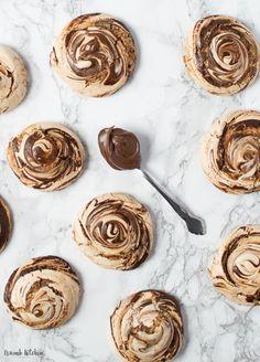 Nutella Meringues #meringue #nutella #sweet #food #dessert #desert #cake #followback