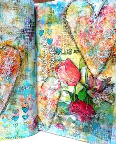 Sketching Stamper: Art Book - Hearts and Flowers by Chris