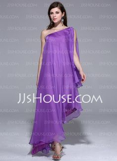 Evening Dresses - $128.99 - A-Line/Princess One-Shoulder Asymmetrical Chiffon Evening Dress (017026204) http://jjshouse.com/A-Line-Princess-One-Shoulder-Asymmetrical-Chiffon-Evening-Dress-017026204-g26204