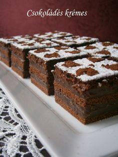 Csokoládés krémes 🍴 Cake Cookies, Tiramisu, Food And Drink, Ethnic Recipes, Sheet Cakes, Tiramisu Cake