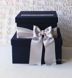 Wedding Card Box Money Box Wedding Box Gift por jamiekimdesigns