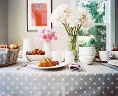 polka dot tablecloth!