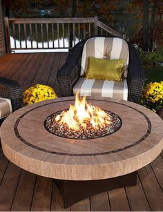 Keep warm as fall approaches with this fire table.