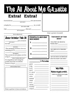 All About Me Gazette.pdf Great idea for getting kids to enjoy writing. Also good for Protective Behaviours Lessons.