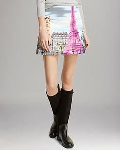 Tibi Skirt - Paris Print | Bloomingdale's