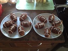 Rice crispy footballs
