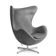 Arne Jacobsen Egg Chair Grey Sense Leather | Fritz Hansen