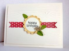 Stampin' Up! CAS Card by Deb C at ARTfelt Impressions: Birthday Flower