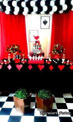 Resultado de imagem para decoração de festa dama de copas