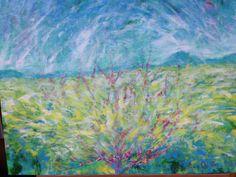 Beyond an apple tree, acrylic on canvas, Ho Sung Lee, 2005