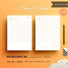 Hobonichi-Day-On-One-Page-Orange