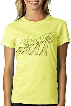 Long Necked Giraffe Tshirt by CritterJitters on Etsy, $18.00