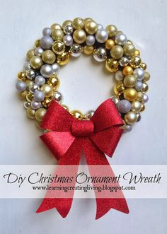20 diy christmas ornament wreaths that you can make yourself love 20 diy christmas ornament wreaths that you can make yourself love these so solutioingenieria Choice Image