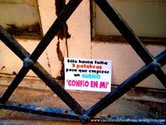 Sólo hacen falta 3 palabras para que empiece un sueño 'confío en mí' #EscribiendoUnAbrazo #abrazoescrito #abrazo #Figueres