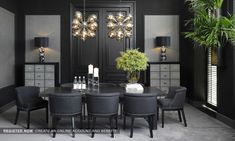 Casual Black And Gold Dining Room Design Ideas For Inspiration 30 Rooms Ideas, Comfortable Dining Chairs, Esstisch Design, Living Comedor, Luxury Dining Room, Dining Table Design, Dining Area, Modern Room, Dining Room Furniture