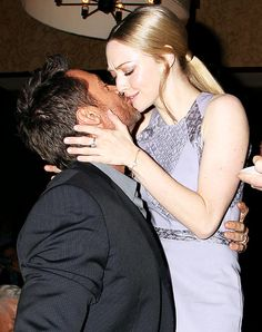Hugh Jackman Kisses Amanda Seyfried on the Lips!
