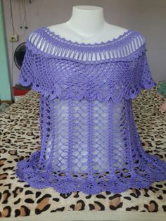 Débardeurs Au Crochet, Crochet Tunic, Love Crochet, Crochet Summer Tops, Crochet Patterns, Tunic Tops, Stitch, Knitting, Dresses