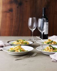 Fettuccine Alfredo with Asparagus Recipe from Food & Wine